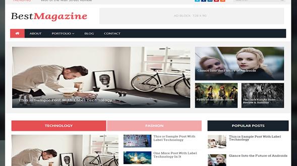 Best-Magazine-Blogger-Template