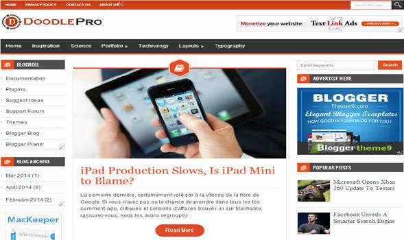DoodlePro Responsive Blogger Template