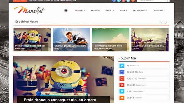 Manshet-blogger-template