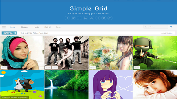 Simple-Grid-Blogger-Template1