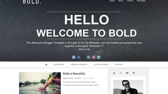 Bold-Blogger-Template