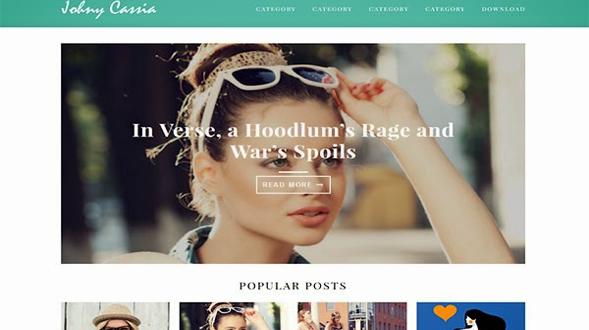 Johny-Cassia-Blogger-Template
