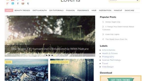 Loveria-Blogger-Template