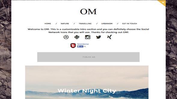 OM-Responsive-Blogger-Template