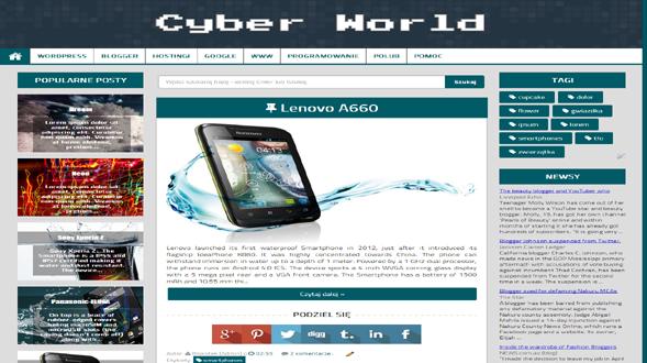 Cyber-World-Blogger-Template