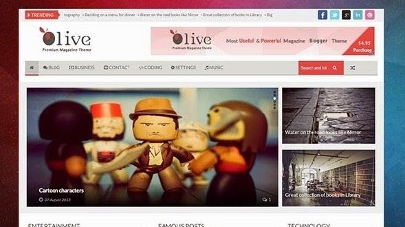 Olive-Responsive-Blogger-Templat