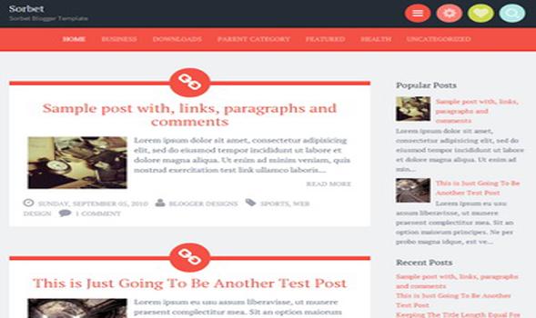 Sorbet Responsive Blogger Template