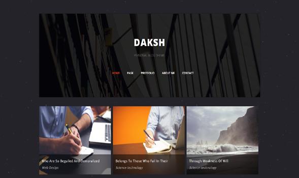 Daksh-Blogger-Template