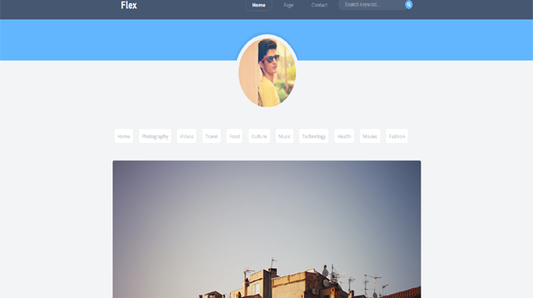 Flex-Blogger-Template