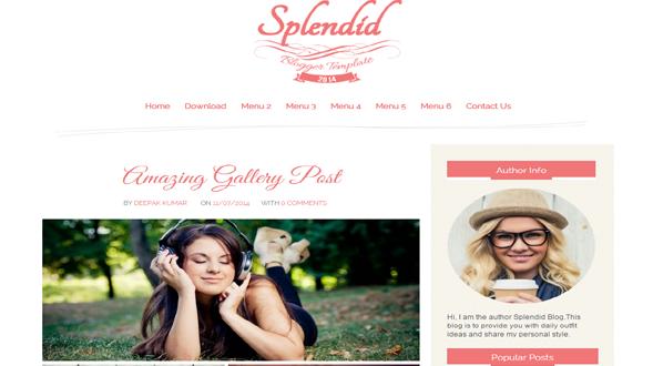 Splendid-Responsive-Blogger-Template