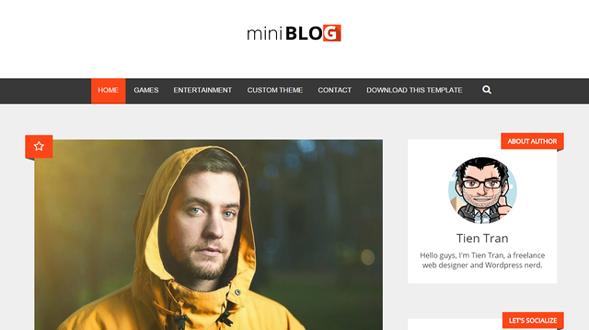 miniBlog-Responsive-Blogger-Template