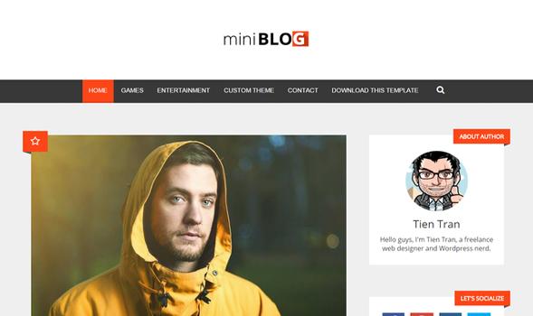 miniBlog Responsive Blogger Template
