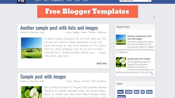 Facebook-blogger-template