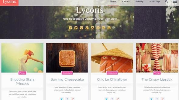 Lycoris-Blogger-Template