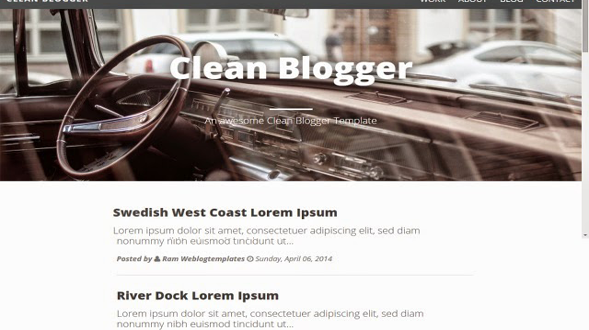 Cleanblog-Blogger-Template