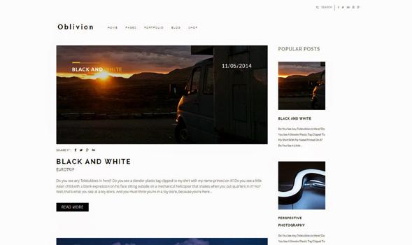 Oblivion-Minimal-Blogger-Template