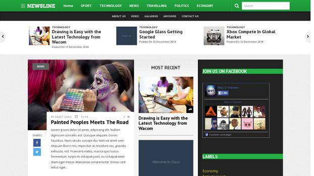 NewsLine-Responsive-Blogger-Template