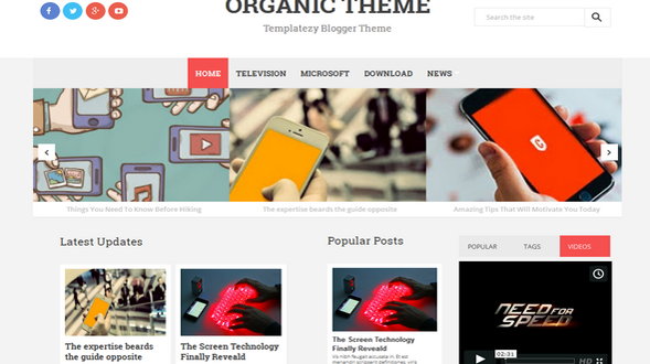 Organic-Responsive-Blogger-Template