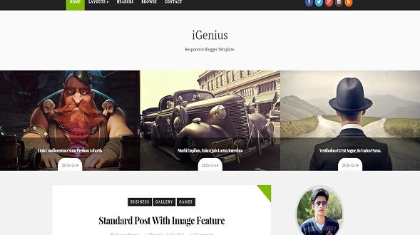 iGenius-Blogger-Template