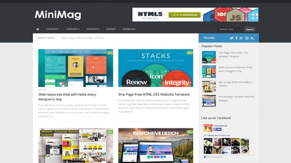 MiniMag-Blogger-Template