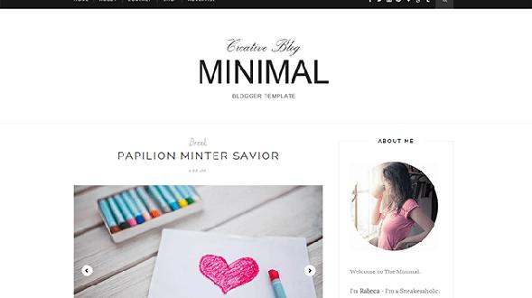 Minimal-Responsive-Blogger-Template