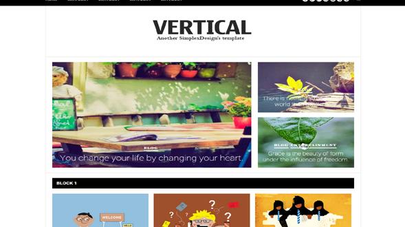 Simplex-Vertical-Blogger-Template