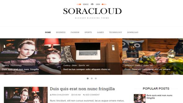 Sora-Cloud-Blogger-Template