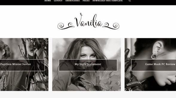 Vanilia-Blogger-Template