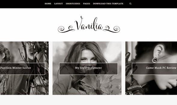 Vanilia-Personal-Blogger-Template