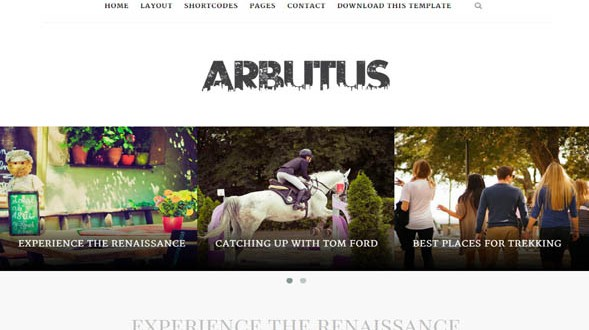 Arbutus-Blogger-Template