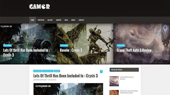 Gamer-Responsive-Blogger-Template