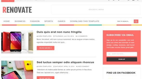 Renovate-Blogger-Template