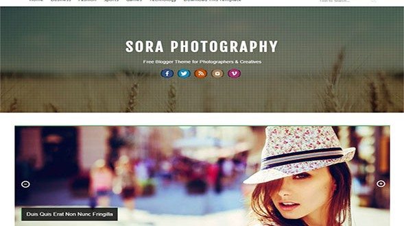 Sora-Photography-Blogger-Template