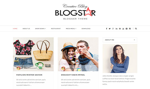 BlogStar-Blogger-Template
