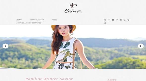 Calmer-Minimal-Blogger-Template