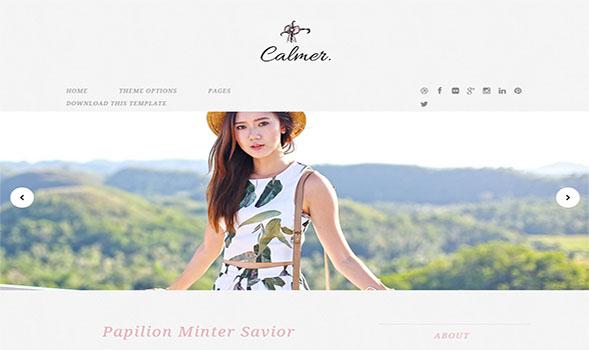 Calmer-Stylish-Blogger-Template