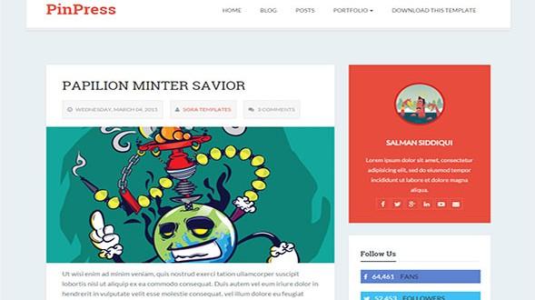 PinPress-Blogger-Template