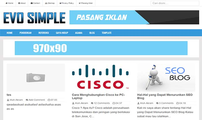 Evo-Simple-Blogger-Template