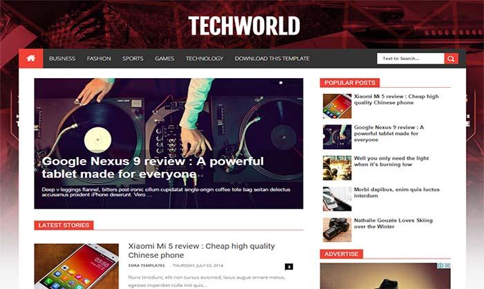 TechWorld-Blogger-Template