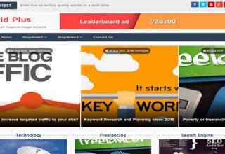 Grid Plus Blogger Template