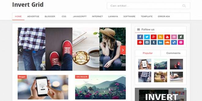 Invert Blogger Template