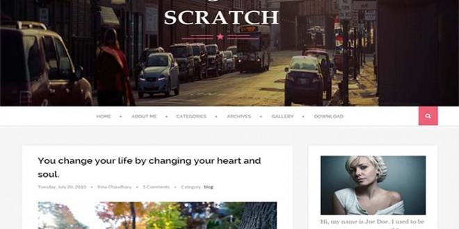 Scratch Blogger Template