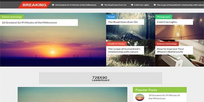 Solar Blogger Template
