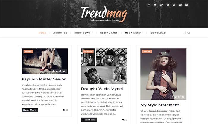 TrendMag Blogger Template
