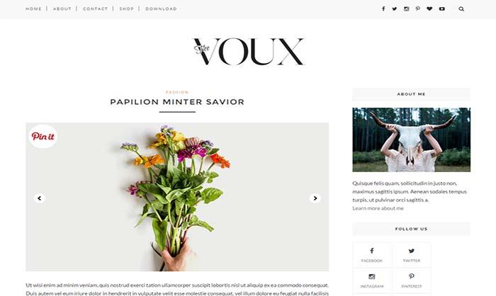 Voux Blogger Template