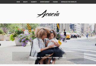 Acacia Minimal Blogger Template