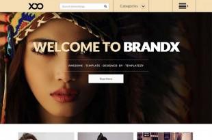 BrandX Blogger Template
