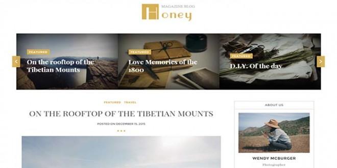 Honey Blogger Template