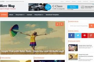 Micro Mag Blogger Template