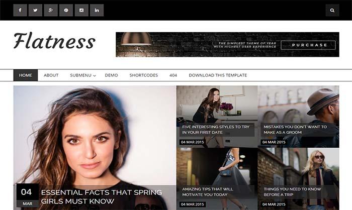 Flatness Blogger Template